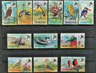 BIRDS 12 Different Mint NH Multi color Lesotho topical stamp set 1055 Value