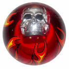 Clear Red Flamed Skull Shift Knob 5 16 24 thread US Made