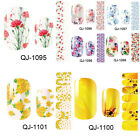 Flowers Self Adhesive Nail Polish Foils Stickers Nall Art Decals Manicure Wraps