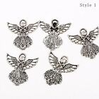 1030pcs Angel Wing Fairy Tale Beads Charms Tibetan Silver Pendant Diy Bracelet