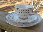 Nicole Miller Home~Tea Cup~Saucer~Side Plate~Silver~Metallic~Accents~New