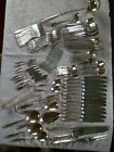 Vintage Nickel Silver Flatware Set Floral Pattern 132Pc W/Serving Pieces
