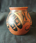 Southwestern Pueblo Style Hand Painted Red Clay Pottery Pot 5.5