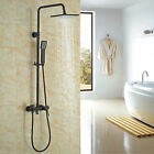 Oil Rubbed Bronze Bathroom Tub Shower Faucet System Rain Head with Hand Spray