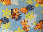 DISNEY FINDING NEMO Fleece Fabric Material ALMOST 2 YDS Crush The Turtle DUDE