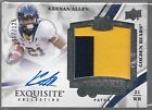 2013 UD Exquisite Keenan Allen On Card Auto 2 Color Player Worn Patch Rc # 125