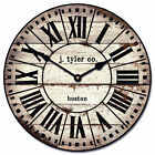 French Tower 2 LARGE WALL CLOCK 10 48 Whisper Quiet Non Ticking WOOD HANDMADE