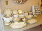IMPERIAL CHINA JAPAN Service for 12 FLORAL DINNERWARE GOLD RIM 89 piece Vintage!