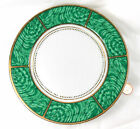 Georges Briard IMPERIAL MALACHITE 7.5inch SALAD/BREAD PLATE(s) White Green Gold