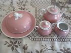 Richard Ginori Italy China/Porcelain Teapot, Creamer, Sugar Bowl,