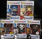 Funko Pop Civil War Exclusive Crossbones, Black Panther, Falcon, Cap,