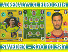 PANINI ADRENALYN XL UEFA EURO 2016 CHOOSE YOUR SWEDEN TEAM CARDS 370 TO 387