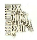 Halloween Sign Unfinished Wood Shape Craft Laser Cut Out Craft Supply DIY FAL68