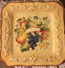 Set/7 CERTIFIED INTERNATIONALYellow/Italia Fruit Dinner Plate Pamela Gladding