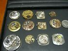 ANTIQUE LOT WATCH MOVEMENTS TIFFANY & CO, PIAGET, BREITLING, OMEGA, CONCORD USED