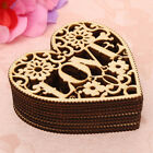 Laser Cut Hollow Out Heart Delicate Unfinished Wooden Shapes Craft Embellishment