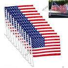 12pcs USA AMERICAN Car Flag Patriotic Car Truck Window Clip Flag 18x12