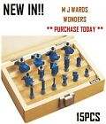 Clarke CHT362 - 15 Pc Router Bit Set (¼