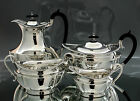 Antique Sheffield silver plate 4pc tea set hot water jug sugar bowl creamer