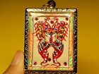 King of Butterfly with 9 Tails Fox Lady Pendant  by Kruba Krissana Thai Amulet