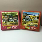 2 New CHARLES WYSOCKI'S AMERICANA Puzzles FLOWERLAND THICKETBERRY COVE 1000 PC