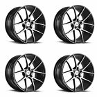 20 SAVINI BM14 MACHINED BLACK CONCAVE WHEELS RIMS FITS LEXUS LS430