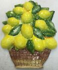 Deruta Pottery-Lemons Wall Plaque With Relief.Made/Painted by hand-Italy