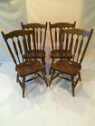 STONE SET OF 4 DINING CHAIRS MAPLE FINISH WINDSOR FLAT BACK STYLE