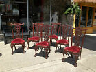 Outstanding Set of Six Mahogany Chippendale Dining Room Chairs 20th century.