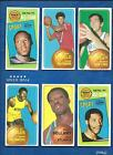 1970-71 Topps Basketball lot of 36 diff cards Unseld Bradley Baylor