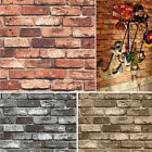 Vinyl Vintage 3D Textured Stone Paper Faux Brick Wallpaper for Home Wall decor