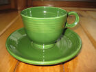 Vintage FIESTAWARE Set Cup and Saucer FOREST GREEN