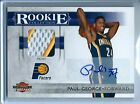 2010-11 Threads Rookie Collection Prime Paul George RC Auto Patch 25