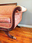 Antique Pink and gold Duncan Phyfe-style sofa, Empire Regency Sofa, Victorian