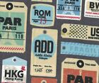 Travel Luggage Tags Paris London Rome World Snuggle Flannel 100 Cotton