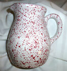 Coche Stoneware  Pitcher Speckled Rose Pink Heavy Quart by Eurogres