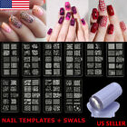1Set Nail Art Stamp Stencil Stamper Design Stamping Image Template Plate Tool US