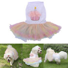 New Pet Puppy Dog Birthday Cake Dress Clothes Doggie Lace Tutu Skirt Chihuahua