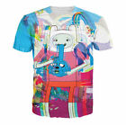 New Womens/Mens JJake and Finn the Adventure Time psychedelic 3D Print T-ShirtE1