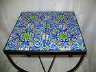 CRAFTS MONTERRY OR CATALINA TILE TOP WROUGHT IRON TABLE, VIBRANT...