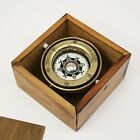 PARTS REPAIR Vtg Nautical Maritime Lifeboat Ship Gimbal Brass Compass Wood Box