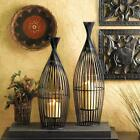 SET OF 2 SMALL WIRE VASE PILLAR CANDLE HOLDER CENTERPIECES DECOR 10015426
