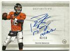 2015 Topps Definitive Peyton Manning 14X Pro Bowl On the Card Auto # 2 10