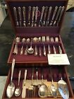 Edwards Danish Princess Flatware Set For 12 W/ Servers + Chest 85 Pcs