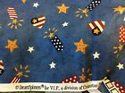 FOURTH OF JULY HEARTS STARS  FIREWORKS BY DREAMSPINNERS COTTON BY THE YARD
