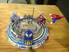 Tin mechanical Superman toy wind up schylling toy vintage look and action