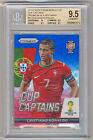 2014 Panini Prizm World Cup CRISTIANO RONALDO Blue Red Wave BGS 9.5 REAL MADRID