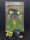 FUNKO THE FLY METALLIC GREEN PEZ STEM WACKY WOBBLER BOBBLE HEAD RARE BOX DAMAGE