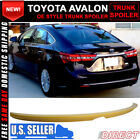 Fit For 13-16 Toyota Avalon OE Style Unpainted Rear Trunk Spoiler Wing - ABS
