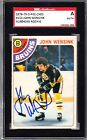 1978-79 O-PEE-CHEE John Wensink Autographed Rookie Card SGC Bruins